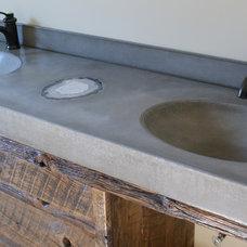 Eclectic Bathroom Vanities And Sink Consoles by BDWG Concrete Studio