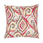 Safavieh Home Furniture - Brown and Red Ikat  22-Inch Decorative Pillows Set of Two - - This gorgeous 22-inch Ikat Decorative Pillows (Set of 2) features trendy accents of brown red and ivory pattern printed on beautiful 100% cotton fabric. Seamed with intricate detail this pillow offers the versatility to fit into a wide range of decor styles from modern-contemporary to country or traditional and in settings that are either casual or formal.   - Brown  - Some assembly required - Yes  - Please note this item has a 30-day manufacturer?s limited warranty that covers product defects. Inspect your purchase upon delivery and notify us immediately with any concerns. Safavieh Home Furniture - PIL410A-2222-SET2