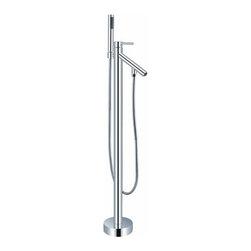 Perugia - Chrome Finish Single Handle Modern freestanding bathtub faucet -