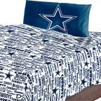 The Northwest Company - Dallas Cowboys Twin Sheet Set Anthem Bed Sheets - FEATURES: