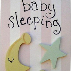 Wish Upon A Star - On Sale Moon and Star Girl Doorhanger - Moon and Star Girl Doorhanger