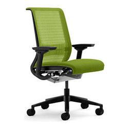 Steelcase - Steelcase Think Chair with 3d Knit Back, Wasabi - The Think chair is one of Steelcase's most popular office chair selections.  Our chairs include a 3d knit back, which means that it's breathable and has a bit of extra cushion.  The  Think chair's hallmark is that it moves with your body and supports you when and where you need it.  Our Think chair comes with the adjustable lumbar support and fully adjustable arms.  Did we mention that it also comes in some purdy colors?