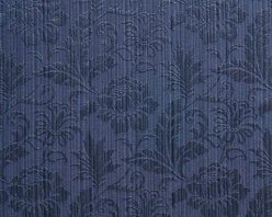Navy Two Toned Floral Metallic Sheen Upholstery Fabric By The Yard - This multipurpose fabric is great for residential upholstery, bedding and drapery. This material is woven for enhanced elegance. The sheen of this material varies depending on the light for a unique appearance.