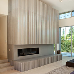 modern fireplaces by Concreteworks