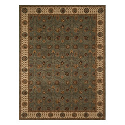 """Loloi Rugs - Loloi Rugs Stanley Collection - Steel / Beige, 9'-8"""" x 12'-8"""" - The magnificent Stanley Collection features modern interpretations of the most sophisticated hand knotted designs. Recreated in Egypt with power loomed technology these gorgeous polypropylene area rugs offer an affordable alternative."""