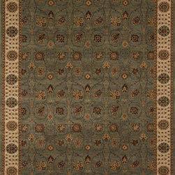 """Loloi Rugs - Loloi Rugs Stanley Collection - Steel / Beige, 5'-2"""" Round - The magnificent Stanley Collection features modern interpretations of the most sophisticated hand knotted designs. Recreated in Egypt with power loomed technology these gorgeous polypropylene area rugs offer an affordable alternative."""