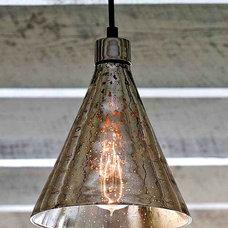 Antique Mercury Glass Beaker Pendant Light Fixture Home Lighting