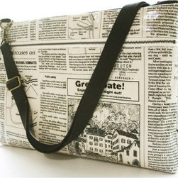 Waterproof -Laptop Bag For 13 inch Padded Cotton with shoulder straps and zipper - This laptop bag is so cute I would leave it out all the time, hanging from a doorknob or propped up on a bench. Of course, it's also very chic to carry around when you need to be portable!