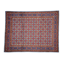 1800-Get-A-Rug - Persian Mashad Denim Blue Hand Knotted Rug Sh12491 - About Persian