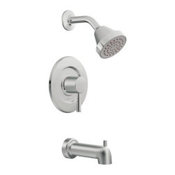 Moen T2703 Level Posi-Temp Tub and Shower Trim Kit without Valve, Chrome - Features: Chrome finish to create a bright, highly reflective, cool grey metallic look, LifeShine finish guaranteed not to tarnish, corrode or flake off, PosiTemp pressure-balancing valve maintains water pressure and controls temperature, 6-1/2-Inch tub spout length, Valve 2510 or 2590 or 2570 or 2520 not included