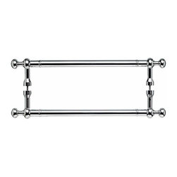 Top Knobs - Somerset Weston Back to Back Door Pull - Polished Chrome (TKM829-12 pair) - Somerset Weston Back to Back Door Pull - Polished Chrome