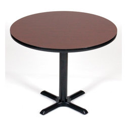 Correll Inc - Round Cafe Breakroom Top in Cherry (42 in./Ch - Finish: 42 in./CherryColumn and base not included. Pictured in Cherry. 24 in.. 30 in.. 36 in.. 42 in.. 48 in.. 60 in.