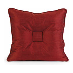 iMax - iMax IK Paola Thai Silk Pillow w/ Down Fill X-27124 - Iffat Khan has developed a luxurious collection of down pillows with Thai silk fabrics. Iffat's refined aesthetic is evident in her collection which combines clean modern, classic casual and timeless traditional styles with her own creative twist.