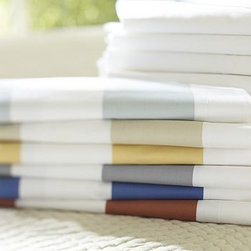 PB Classic Stripe 400-Thread-Count Sheet Set, Queen, Terra Cotta - Awning stripes give this sheet set its all-American appeal. We've printed them across luxuriously soft 400-thread count cotton percale. Made of 100% pure cotton percale. 400 thread count. Sheets sold in sets: flat sheet, fitted sheet and 2 pillowcases (1 with Twin). Machine wash. Internet Only. Imported.