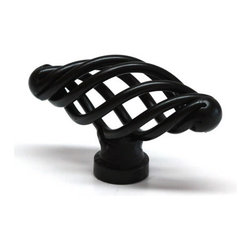 Bayport House - Matte Black Knob - Twisted Wire with 2-1/8in Diameter, 3/4in Width - This Matte Black Knob - Twisted Wire with 2-1/8in Diameter, 3/4in Width, 1-1/8in Projection (SKU: 12032-MB) is a premium cabinet twisted wire knob by Bayport House. If you are searching for matte black cabinet hardware you will love our great prices and selection! All of our matte black cabinet hardware, including this twisted wire knob, comes with multiple screws for easy installation, a full manufacturer warranty against defects and order fulfillment by the next business day! You will love your experience shopping with Bayport House!