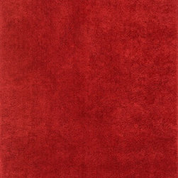 "Loloi Rugs - Loloi Rugs Cloud Shag Collection - Red, 3'-6"" x 5'-6"" - Experience a higher level of comfort with Loloi's aptly named Cloud Shag collection. Hand-tufted in China of 100% polyester, Cloud Shag is available in a multitude of neutral and bright color options to enhance its irresistibly soft texture."