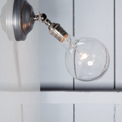 Bare Bulb Wall Sconce - Angled Lamp - Industrial Light Electric