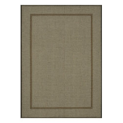 """Loloi Rugs - Loloi Rugs Capri Collection - Blue/Brown, 5'-2"""" x 7'-5"""" - Create your own patio paradise with the modern indoor/outdoor Capri Collection. Available in bold linear and geometric patterns, these rugs not only have the style to capture the eye but also the durability to handle Mother Nature's elements. That'sbecause Capri is made in Egypt of 100% polypropylene, specifically engineered to remain vibrant in spite of UV rays or rain. And with cool, earthy browns and slate blue color tones, Capri looks great inside too. If the kids, pets, or guests spill something and stain the rug, just hose it down and let it dry out."""