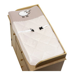 Sweet Jojo Designs - Little Lamb Changing Pad Cover by Sweet Jojo Designs - The Little Lamb Changing Pad Cover by Sweet Jojo Designs, along with the  bedding accessories.
