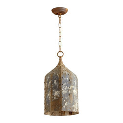 Cyan Design - Cyan Design Collier Large Traditional Pendant Light X-95260 - A large, octagonal shape is paired with rivets and other industrial-themed accents on this Cyan Design pendant light. From the Collier Collection, this traditional pendant light features iron construction and a stylish Rustic finish, which has been distressed for added industrial appeal.