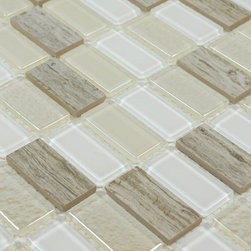 Stone Glass Mosaic Tile - Product Description:Item#: STG0125Collection: Stone Glass MosaicColor: Color Blend(Crystal White and Crystal Green)Surface Finish: Glossy glassShape: RectangleChip Size: 1x2In. (23mm x 48mm)Thickness: 3/16 In. (5mm)Each sheet of this tile is approximately 1 sq ft per sheet and is mesh mounted on high quality fiber glass for easy installation of your mosaic tile projects.Application: Stone Glass Mosaic are impervious to the water, thus it is great for both interior and exterior use so moisture is not an issue. Stone Glass Mosaic are great on floors and walls and have been most popular in bathrooms, spas, kitchen backsplash, wall facades and pools as well as a variety of other applications.Characteristics: Stone Glass Mosaic has a zero water absorption rate, and this tile exceeds ANSI standards for water absorption for mosaic tile. It is strong, durable, contamination free, and only the best quality tiles are selected as our tiles are inspected for blemishes before shipment.
