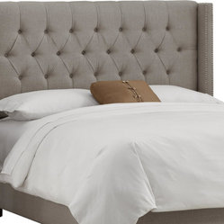 Skyline Furniture Tufted Wingback Headboard