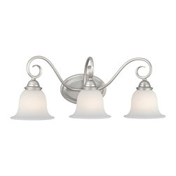 Vaxcel - Picasso Brushed Nickel 3 Light Vanity - Vaxcel PA-VLD003BN Picasso Brushed Nickel 3 Light Vanity