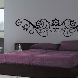 StickONmania - Flower Design #66 Sticker - A cool vinyl decal wall art decoration for your home  Decorate your home with original vinyl decals made to order in our shop located in the USA. We only use the best equipment and materials to guarantee the everlasting quality of each vinyl sticker. Our original wall art design stickers are easy to apply on most flat surfaces, including slightly textured walls, windows, mirrors, or any smooth surface. Some wall decals may come in multiple pieces due to the size of the design, different sizes of most of our vinyl stickers are available, please message us for a quote. Interior wall decor stickers come with a MATTE finish that is easier to remove from painted surfaces but Exterior stickers for cars,  bathrooms and refrigerators come with a stickier GLOSSY finish that can also be used for exterior purposes. We DO NOT recommend using glossy finish stickers on walls. All of our Vinyl wall decals are removable but not re-positionable, simply peel and stick, no glue or chemicals needed. Our decals always come with instructions and if you order from Houzz we will always add a small thank you gift.