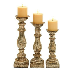 "Benzara - Wooden Candle Holder with Rounded Edges in Beige Hue - Set of 3 - Wooden Candle Holder with Rounded Edges in Beige Hue - Set of 3. Made from high quality wood, this candle holder set will last for years and ensure high performance with minimal maintenance, making it a must have. It is available in 3 size variants - 12""H x 4""W x 4""D, 14""H x 5""W x 5""D, 15""H x 5""W x 5""D."