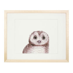 'Owl' by Lindsey Manwell - This art is too cute — I love those eyes! I'm positive my little kids would also like it. It sure makes owls seem like the most lovable creatures.