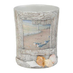 """Creative Bath - At the Beach Waste Basket - ATB54MULT - Shop for Wastebaskets from Hayneedle.com! The At the Beach Waste Basket is a """"shore"""" bet. This resin-crafted wastebasket keeps it clean with an intricate shell-and-driftwood design.About Creative BathFor over 30 years Creative Bath has developed innovative stylish bathroom decor items. They have grown exponentially and now you can find their products in major retail and online stores around the world. From shower curtains to soap dishes and everything in between Creative Bath brings you high quality items to enhance your lifestyle."""