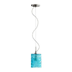 Quorum International - Quorum International 824 Modern 1 Light Mini Pendant - An exuberant contemporary pendant available with glass in a variety of whimsical colors.Features: