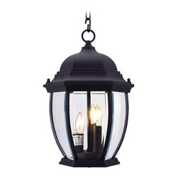 Livex Lighting - Livex Lighting 7539 3 Light 120W Outdoor Pendant - 3 Light 120W Outdoor Pendant with Candelabra Bulb Base and Clear Beveled Glass from Kingston SeriesProduct Features: