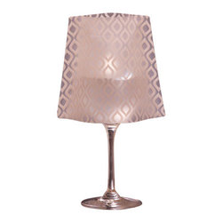 Modgy - Lumizu Wine Glass Shade GiGi - Creating instant elegance is easy with LUMIZU Wine Glass Shades. These wine glass lamp shades are crafted from durable, frosted plastic and slide easily over water-filled wine glasses. No assembly required. LUMIZU Wine Glass Shades fit over any standard