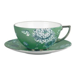 Wedgwood Jasper Conran Chinoiserie Bone China Teacup - Green - Set of 4 - Touched by wanderlust? Invite the Wedgwood Jasper Conran Chinoiserie Bone China Teacup - Green - Set of 4 to your tea party. Ornate flowers and birds float across a verdant background, setting the scene for Far East fun. Renowned designer Jasper Conran brings this fresh design to Wedgwood's timeless repertoire. After tea, these cuties can hop into the dishwasher without a fuss.British designer Jasper Conran has joined Wedgwood to create a collection combining classic British elegance with his unique design aesthetic. This collection includes fine bone china and serveware, drinkware, home decor, and gifts. Each item in the Jasper Conran collection is a unique work of art by this famed designer.About WedgwoodThrough highly skilled craftsmanship and the highest quality standards, Wedgwood manufactures quality ceramics with sophisticated, classical, and contemporary design. With a tradition of innovation, quality, and craftsmanship, Wedgwood designs are widely acknowledged as timeless, elegant, classic, and understated. Their design teams work with external designers for cross-pollination of ideas and experience. Founded in 1759 by Josiah Wedgwood, Wedgwood has been an international company determined to uphold their standards in order to maintain their leadership in the world's markets. Though their roots are over two centuries old, the company strives to stay current through partnerships with fashion designers Jasper Conran and Vera Wang with whom they've developed contemporary and stylish ranges that appeal to the younger consumers.