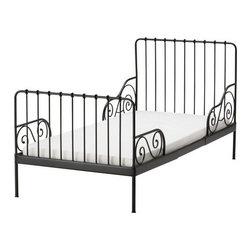 Tina Christensen/IKEA of Sweden - MINNEN Ext bed frame with slatted bed base - Ext bed frame with slatted bed base, black-brown