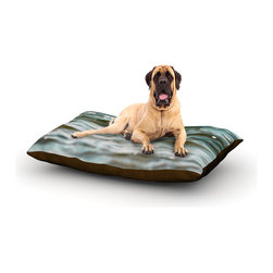"Kess InHouse - Debbra Obertanec ""Turquoise Blue"" Green Water Fleece Dog Bed (50"" x 60"") - Pets deserve to be as comfortable as their humans! These dog beds not only give your pet the utmost comfort with their fleece cozy top but they match your house and decor! Kess Inhouse gives your pet some style by adding vivaciously artistic work onto their favorite place to lay, their bed! What's the best part? These are totally machine washable, just unzip the cover and throw it in the washing machine!"