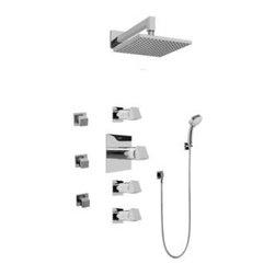 Graff - Graff - Contemporary Square Thermostatic Set  - GC1.232A-C10S-PC - Includes Rough & Trim