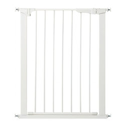 """KidCo - Tall & Wide Auto Close Gateway Baby/Pet Pressure Gate - Black - Measuring in at 36"""" tall and up to 47.5"""" wide, the Tall and Wide Auto Close Gateway makes life for parents easier and life for kids safer. No need to worry about damaging walls with this gate, it installs without marking your walls and requires no tools or hardware to use. The gate is made of high quality steel and touts a U-shaped frame with door that swings in either direction for added convenience. Best of all, the gate is adjustable from 29"""" to 47.5"""" in width, allowing for a good fit in a variety of spaces. This gate is finished in basic black. A white finish is available with unit G1200. Magnetic closure for added security Safe for walls and wood frames No tools or hardware required Premium steel materials Meets or surpasses all ASTM and JPMA safety requirements Door swings both directions Additional button to hold door open"""