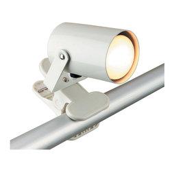 Lite Source - Lite Source LS-119WHT Mini Spot 1 Light Desk Lamps in White - Clip-On Lite, White, 25W/R14 Type