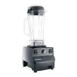 "VITA-MIX - Vita-Mix TurboBlend VS Blender, 20.5""T x 8.75""D x 7.15""W - Vita-Mix TurboBlend VS Blender is perfect for those who enjoy raw, vegan and vegetarian meals. incredible number of foods can be processed with this blender. It is equipped with a variable speed control, tamper, two part easy-to-remove lid, 64 ounce wet blade container and efficient two peak horse power motor. Its extreme processing power helps when preparing foods such as nut butters and frozen treats."