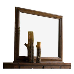 Broyhill - Broyhill Attic Heirlooms Oak Stain Dresser Mirror with Back Supports-Rustic Oak - Broyhill - Dressers - 439936 - About This Product:
