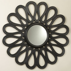Flower Mirror - This beautiful mirror is a strong accent piece, whether you hang it over the mantle, over a console table in the entryway or in a powder room.