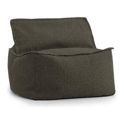 Comfort Research - Big Joe Lux Square Espresso Hitchcock Ottoman - At Comfort Research, being called a square is one of the nicest things you can say about someone. That_s because it refers to our Zip It! Square, a super comfy, ultra soft, glass half-full kind of chair that can do most anything. It can be a seat, a foot rest or a trustworthy  cushion to lean against if the couch is full. And because it_s a member of our Zip It! family, the Square goes the extra yard by unzipping to reveal additional lower back support. So go ahead and call us a square. We_d be honored. Filled with UltimaX Beans that conform to you.  Double stitched and double zippers. Spot clean. Please note this item requires an additional shipping timeline of 10-14 days.