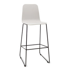 Bryght - Ava White Metal Bar Stool - A quirky addition to the modern home, the Ava bar stools make meals fun.