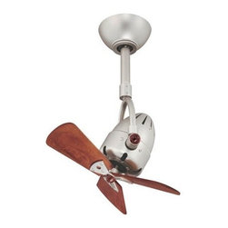 """Matthews Fan - Diane 13"""" Ceiling Fan with Wood Blades - The Diane forward and reverse sweeping oscillating, directional ceiling fan provides maximum, forward andreverse airflow. The Diane can be hung in small, awkward spaces or in front of HVAC ducts to make more efficientthe heating, ventilation or air conditioning of any space."""