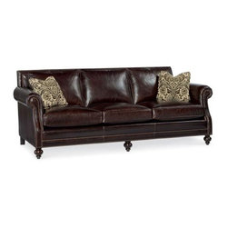 GoreDean - Baltimore Leather Sofa - W 92.5 | D 43  | H 34.5