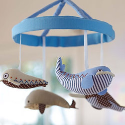 Whale Mobile - Whale mobiles are what summer dreams are made of.