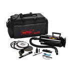 """Metropolitan Vacuum - Metro DataVac 3 - The METRO DATAVAC 3TA includes: Deluxe Power Unit (1.17PHP Motor) Assembled with toner filter disposable bag, permanent cloth bag, cord storage halo, 6"""" flexible hose, 2-20"""" extension wands, """"pik-all"""" nozzle, """"powerizer"""", air maximizer, crevice tool w/brush insert, dusting brush, air """"pin pointer,"""" shoulder strap, 2 extra toner filter disposable bags, 1 extra micro filter, plus 4 pc. Micro cleaning tool kit & """"snorkel"""" probe. Packed in new, heavy duty, lightweight, foam filled, nylon """"carry all"""" with pockets and shoulder strap. """" for maximum maintenance and heavy-duty cleaning flick the switch to """"high"""" and get the full use of Data-Vac's 1.7 PHP Motor. Toner pick-up capability and 50% more power than the MDV-2BA. (Includes all MDV-2BA features and accessories."""