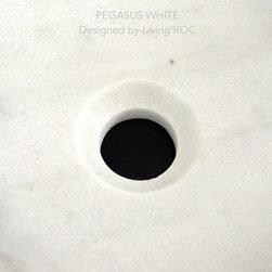 "PEGASUS WHITE 23""x15""x4 WHITE MARBLE BATHROOM VESSEL SINK+FAUCET HOLE - Reference: BB514EW-US"